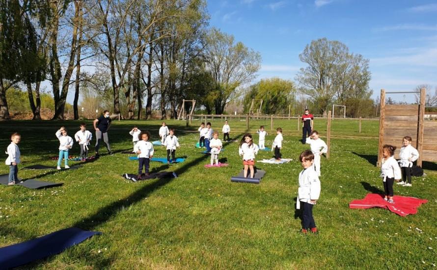 Des entrainements en extérieur pour nos jeunes